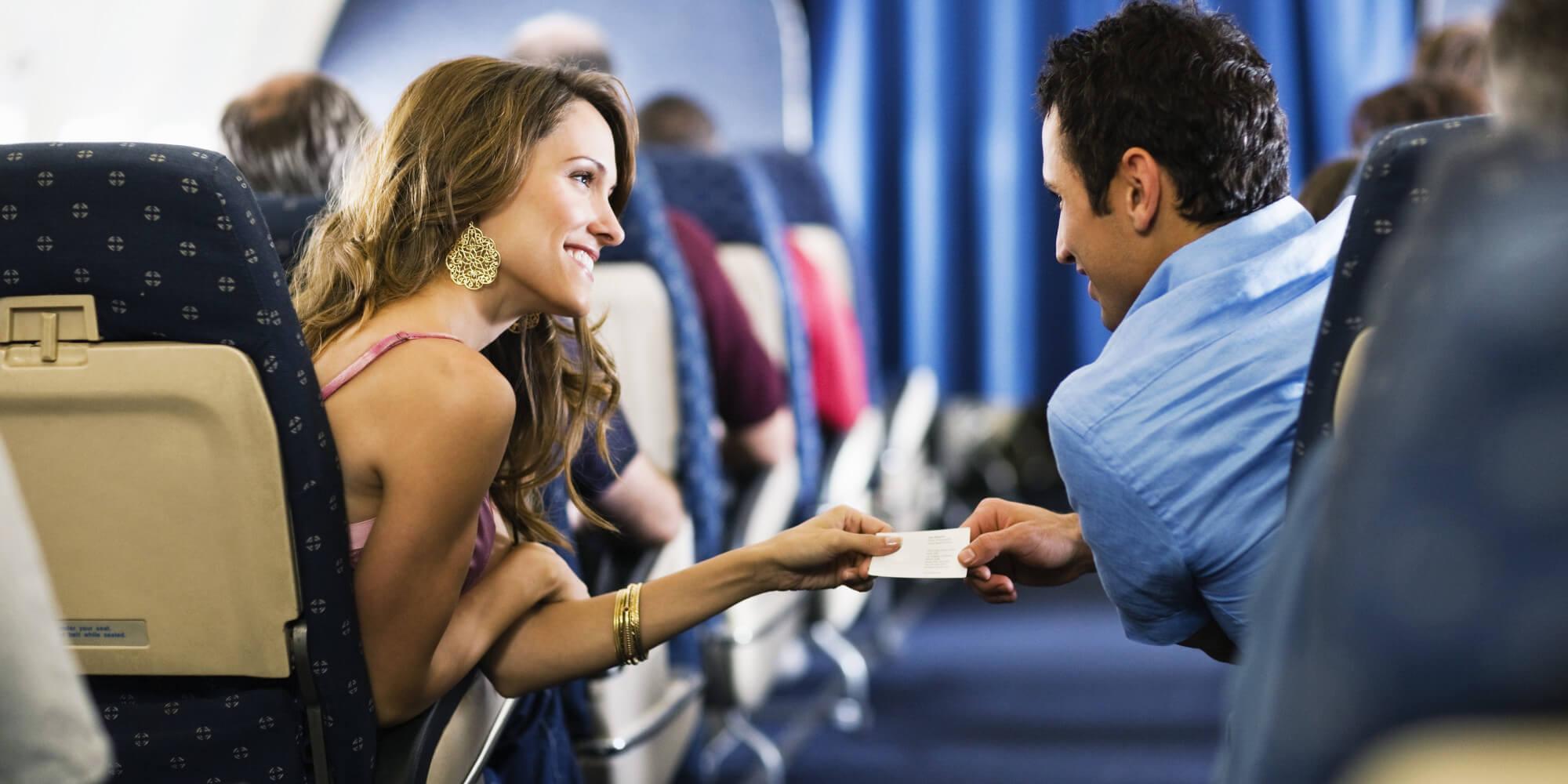 парень и девушка в самолете колготках всегда
